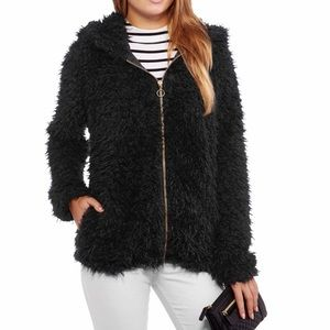 NWT black Sherpa jacket